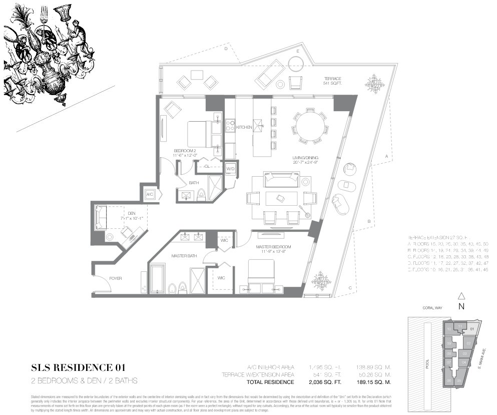 SLS Brickell Floor Plan 01