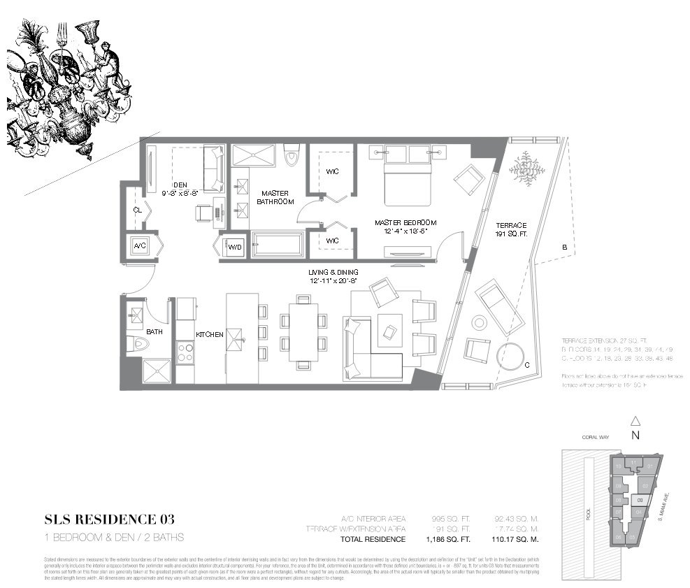 SLS Brickell Floor Plan 03