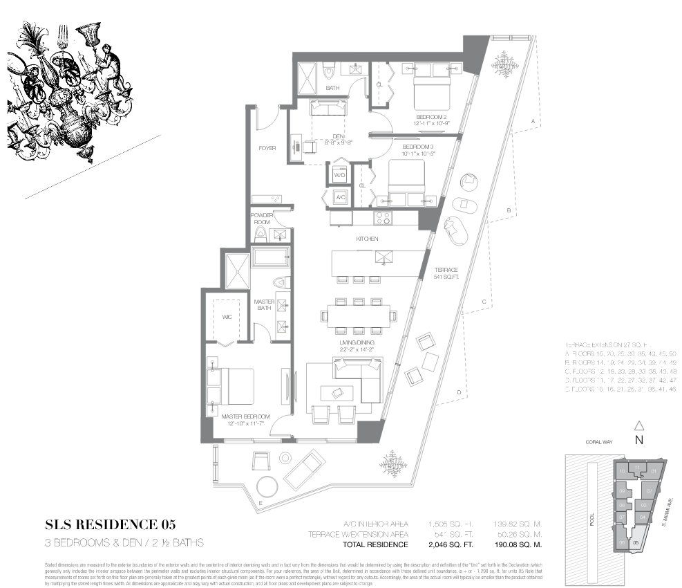 SLS Brickell Floor Plan 05
