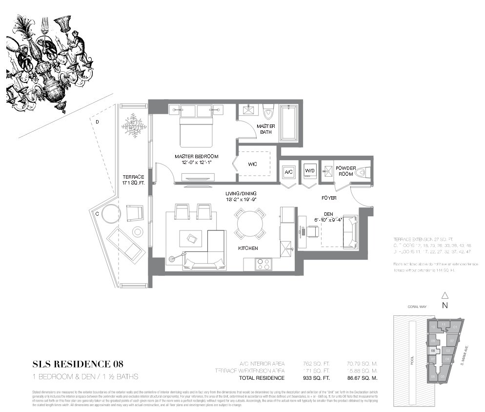 SLS Brickell Floor Plan 08