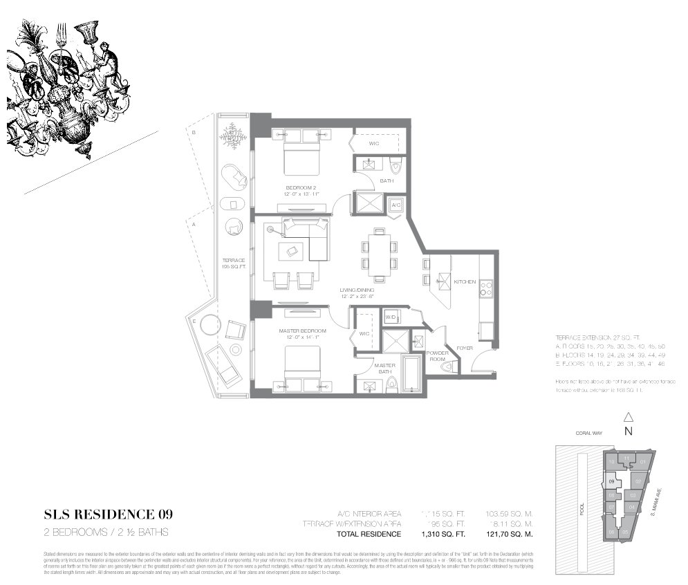 SLS Brickell Floor Plan 09