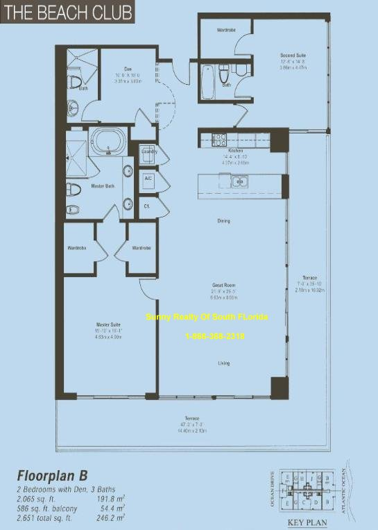 Beach Club II Floor Plan Unit B