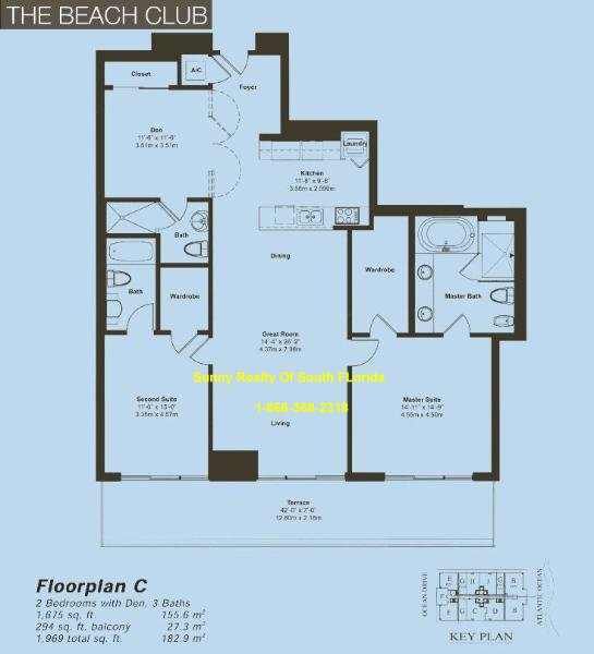 Beach Club II Floor Plan Unit C