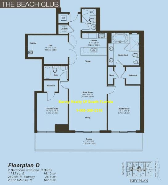 Beach Club II Floor Plan Unit D