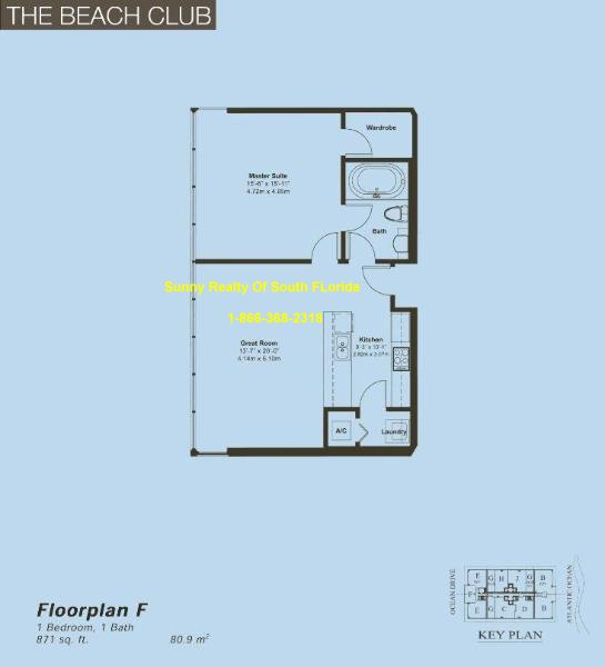 Beach Club II Floor Plan Unit F