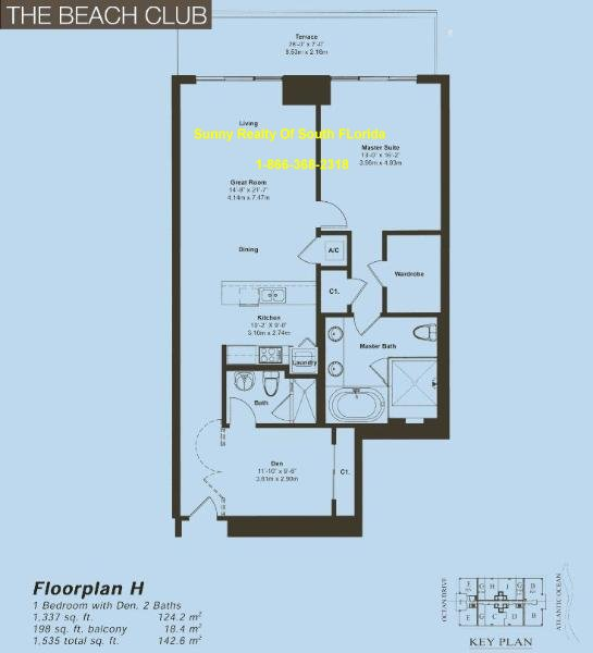 Beach Club II Floor Plan Unit H