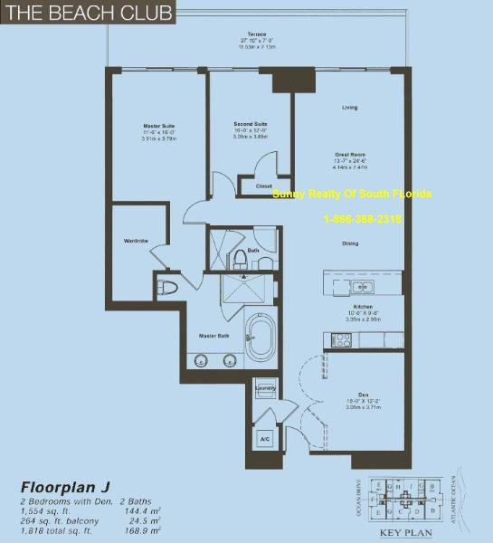 Beach Club II Floor Plan Unit J
