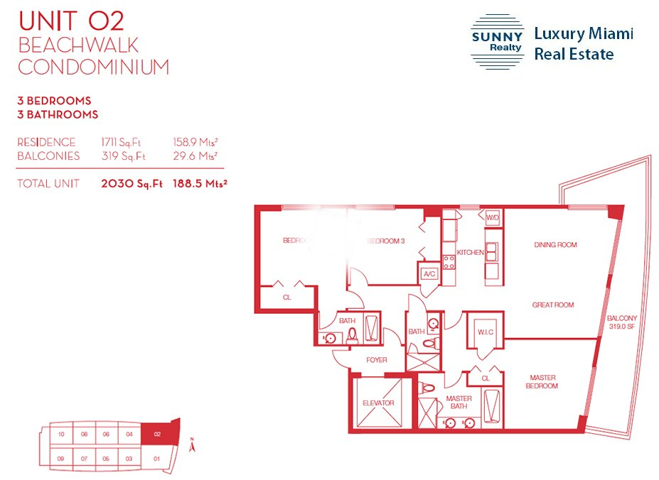 Beachwalk Floor Plan Unit 02