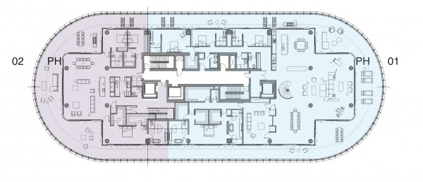 87 Park Floor Plans Penthouse