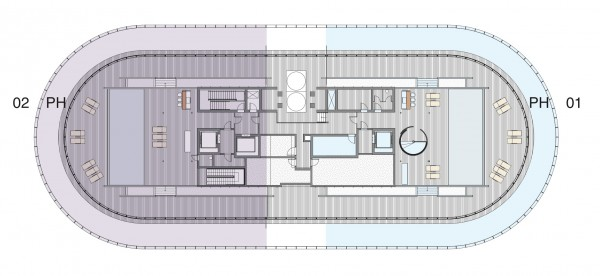 87 Park Floor Plans Penthouse roof
