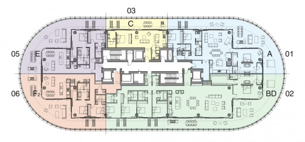 87 Park Floor Plans Level 11 to 14