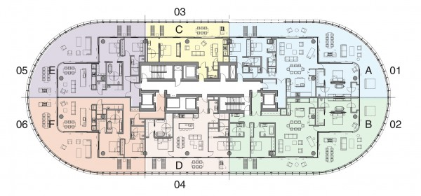 87 Park Floor Plan Level 4 to 10