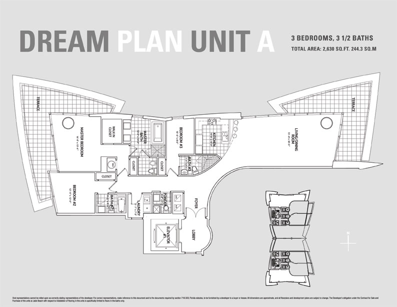 Jade Beach Floor Plan for Unit A
