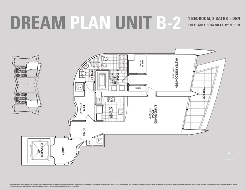 Jade Beach Floor Plan for Unit B2