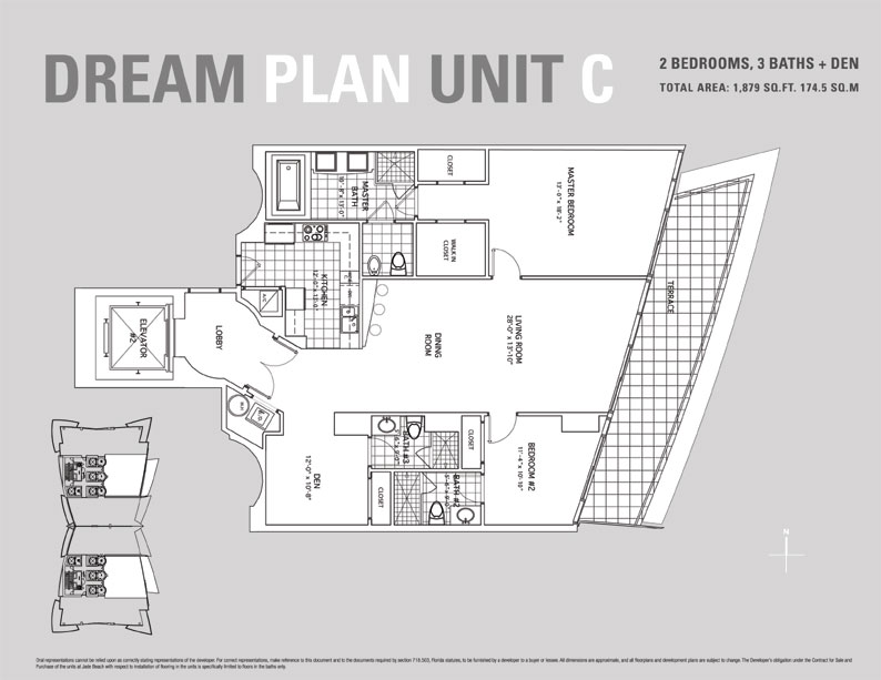 Jade Beach Floor Plan for Unit C