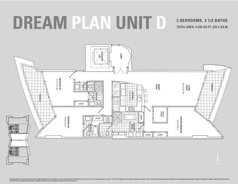 Jade Beach Floor Plan for Unit D