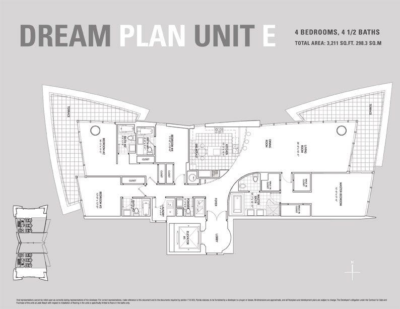 Jade Beach Floor Plan for Unit E