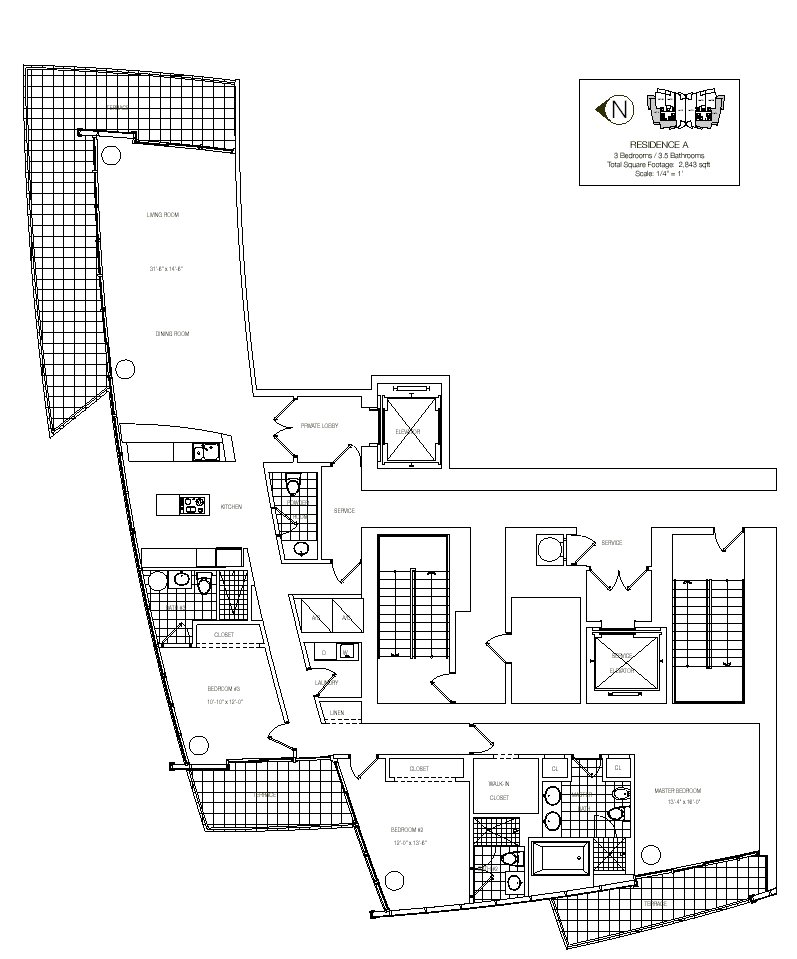 Floor Plan for Unit A