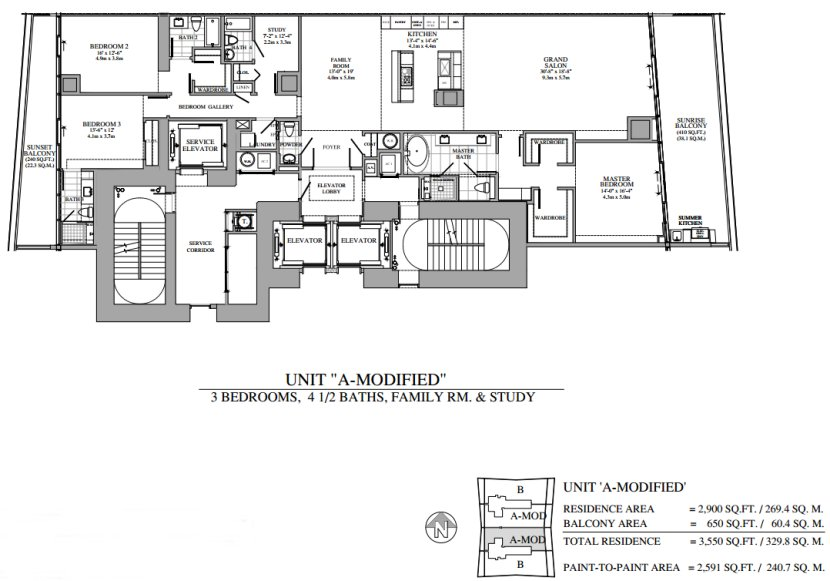 Turnberry Ocean Club Floor Plan A Modified