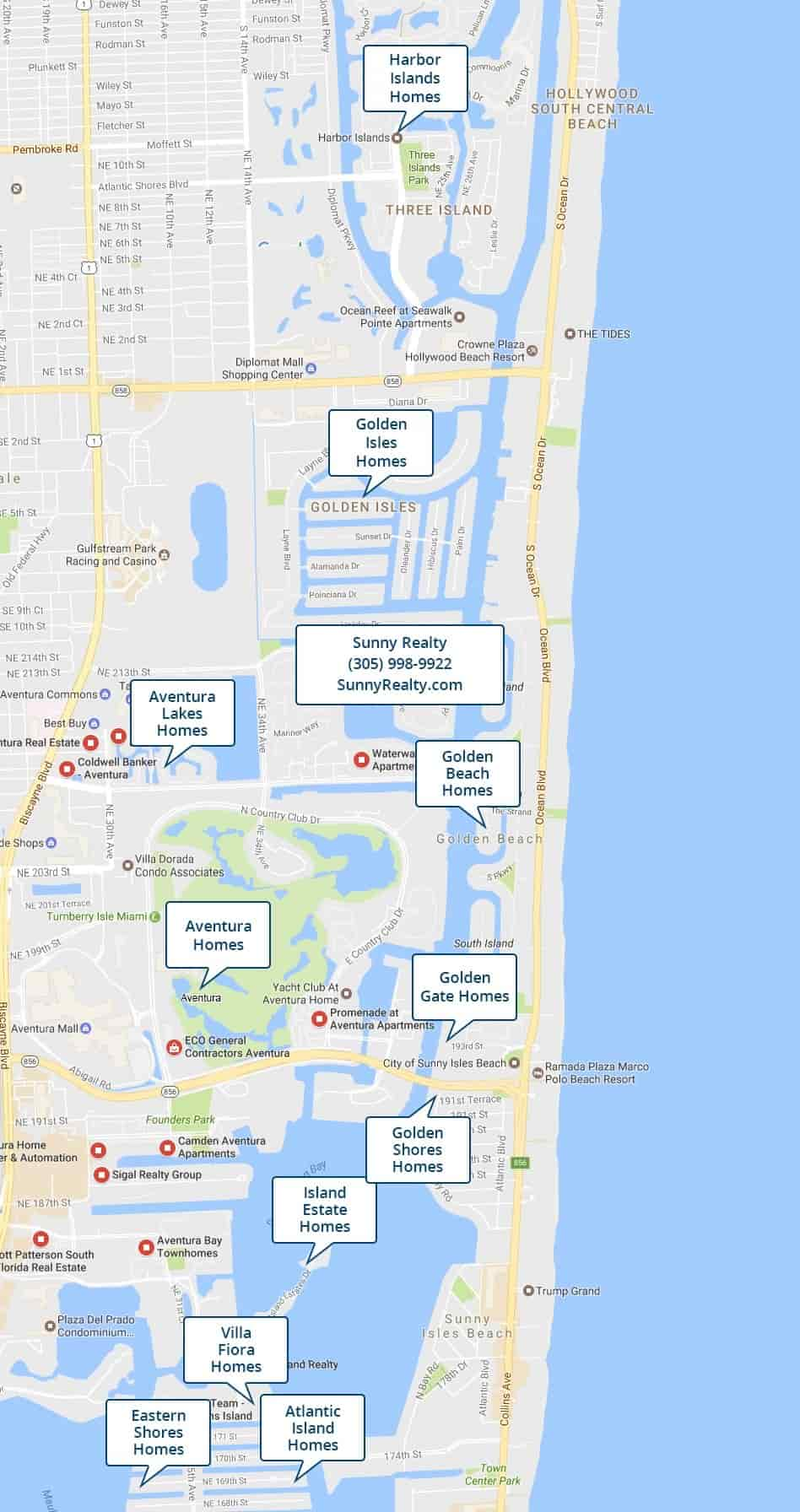 North Miami Beach Waterfront Homes For Sale