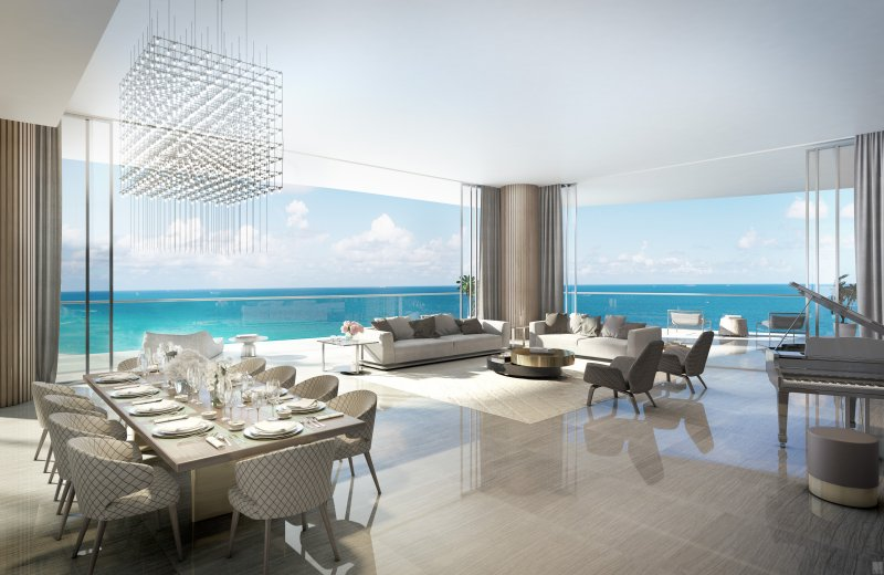 Estates At Acqualina living room