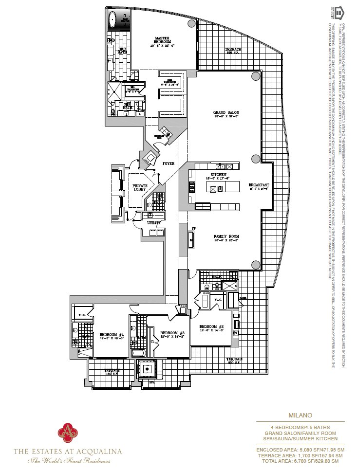 Estates At Acqualina Milano Floor Plan