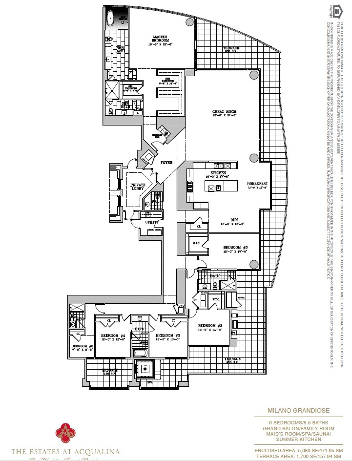 Estates At Acqualina Milano Grandioce Floor Plan