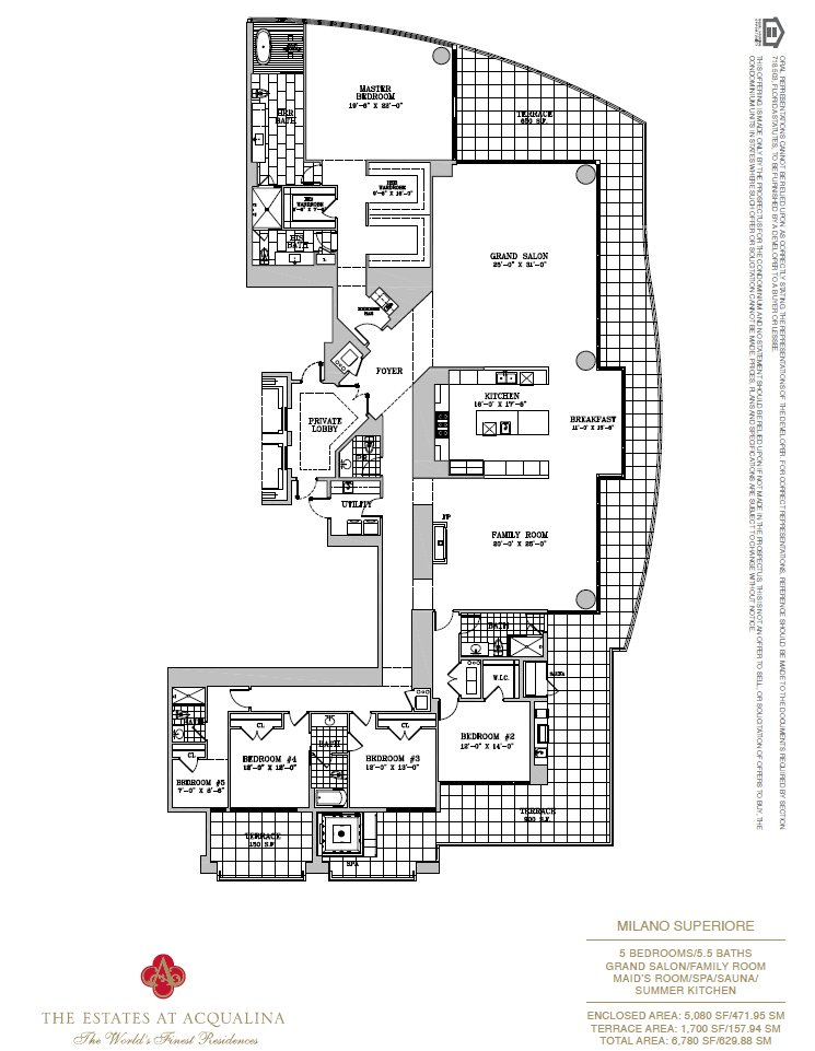 Estates At Acqualina Milano Superiore Floor Plan