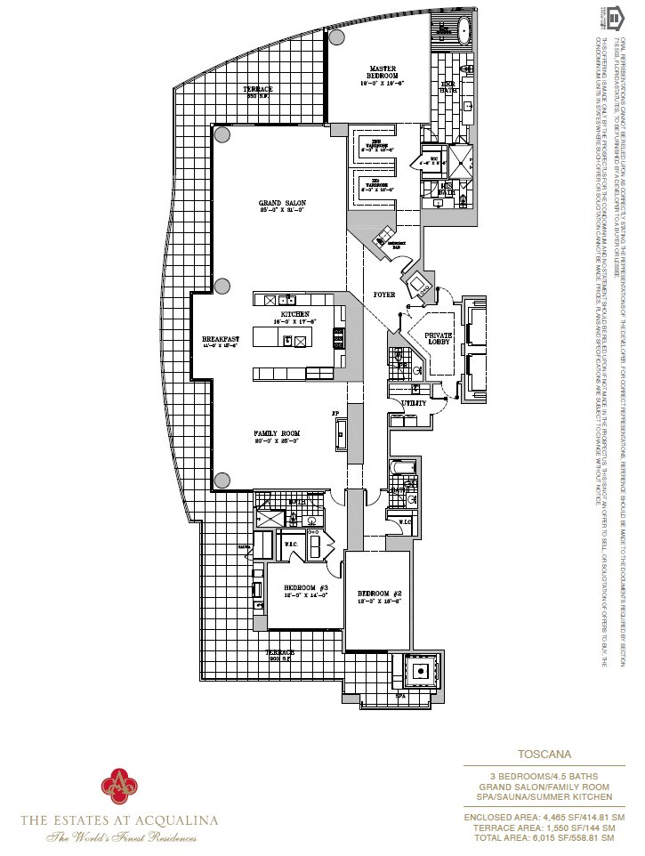 Estates At Acqualina Toscana Floor Plan
