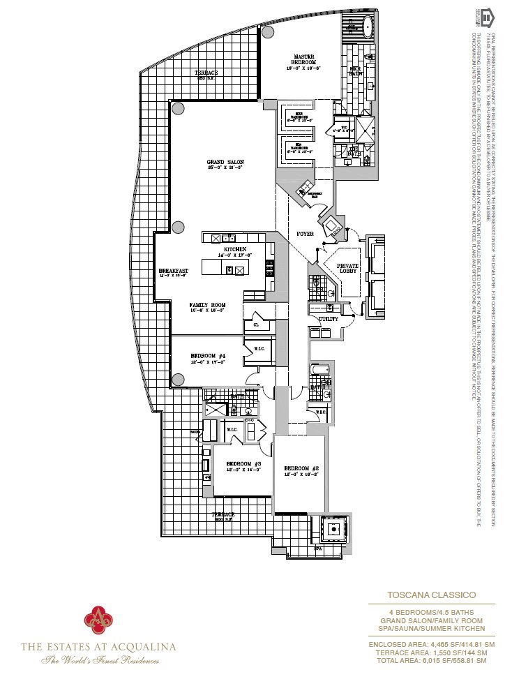 Estates At Acqualina Toscana Classico Floor Plan