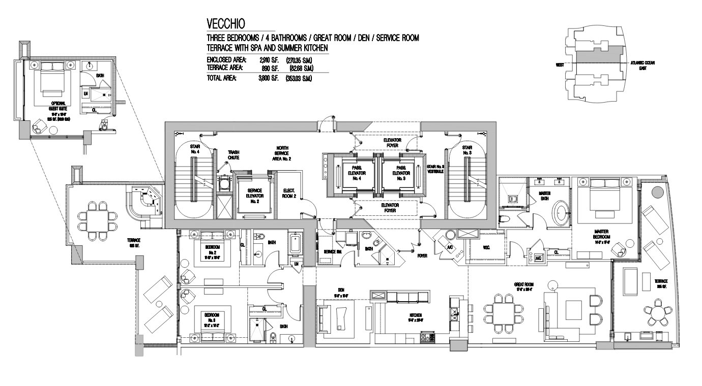 Estates At Acqualina vecchio Floor Plan